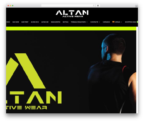 The Retailer WordPress theme - altanwear.com
