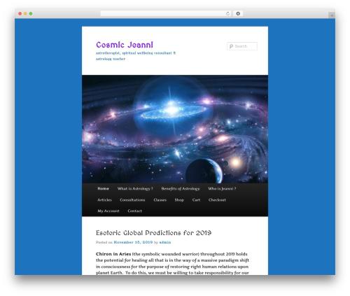 Twenty Eleven best free WordPress theme - cosmicjeanni.com