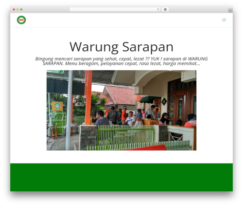 WordPress theme Divi - warungsarapan.com