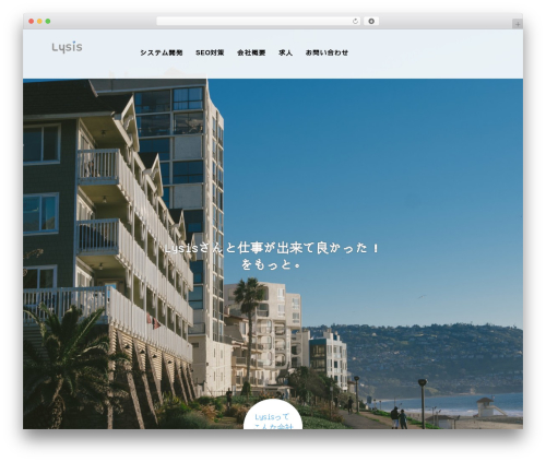 AGENT WordPress page template - lysis.co.jp