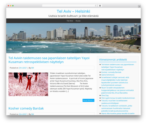 BlueGray WordPress theme download - telaviv-helsinki.com
