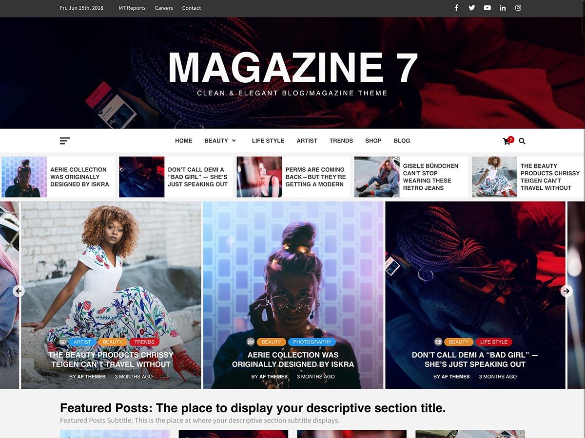 Magazine 7 WordPress magazine theme