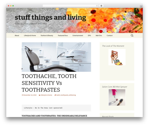 Twenty Thirteen WordPress template - stuffthingsandliving.com