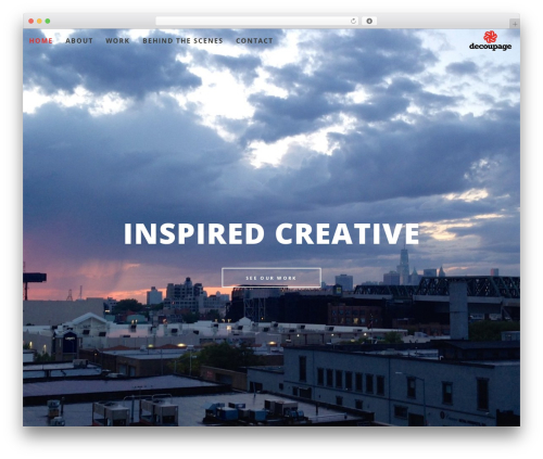 WordPress theme Osmosis - decoupageeast.com