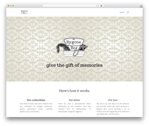 WP theme Divi - bygonebox.com