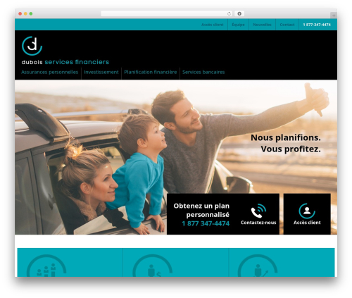 Agence Oz Demo WordPress website template - duboisfinance.com