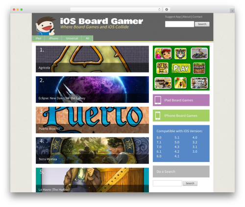 BLANK Theme WordPress theme - iosboardgamer.com