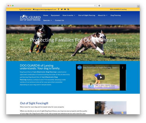 Divi template WordPress - midogguard.com