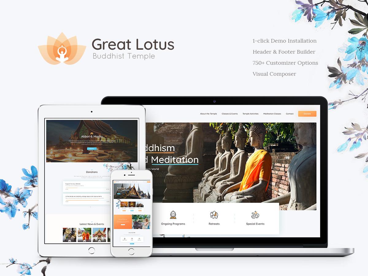 Great Lotus WordPress blog theme