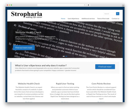 Spacious template WordPress free - stropharia.com