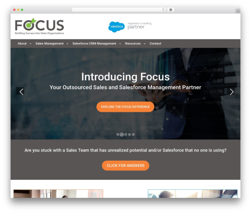Best WordPress theme Divi - focus-salesmgmt.com