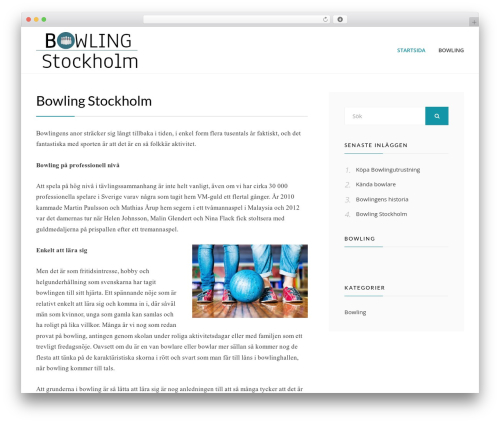 Cell free WP theme - bowling-stockholm.com