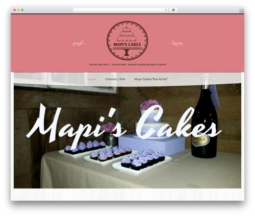 cherry WordPress theme - mapiscakes.com