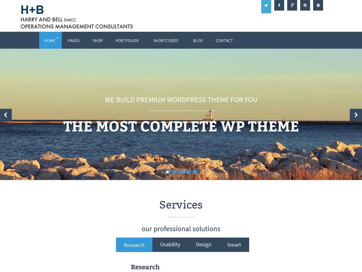 Harry and Bell WordPress website template