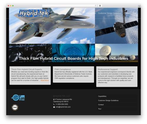 Pinnacle business WordPress theme - hybrid-tek.com