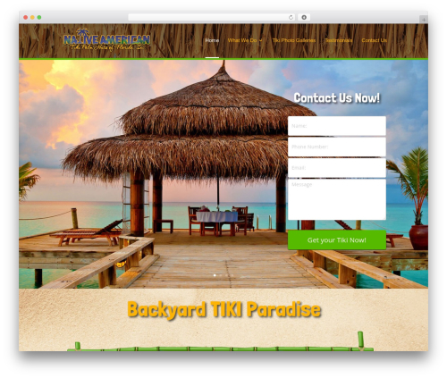 WordPress theme Divi - tikipalmhuts.com