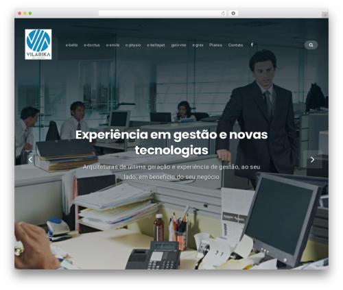 WordPress website template Businessx - vilarika.com