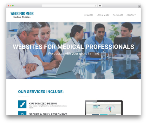 Wp Haswell medical WordPress theme - websformeds.com