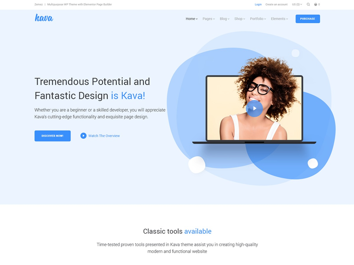 Kava Child WP template