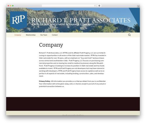 Twenty Thirteen best WordPress template - richardtpratt.com