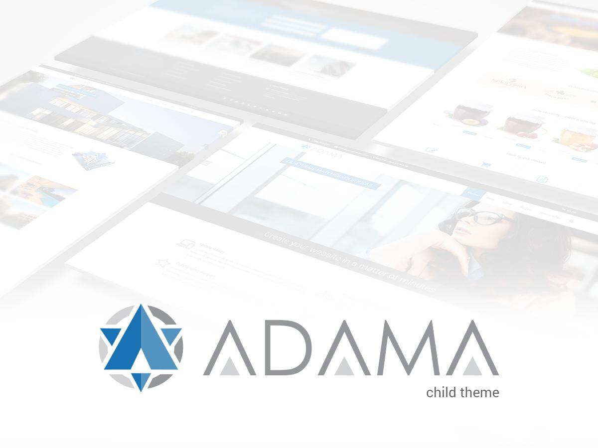 Adama Child template WordPress