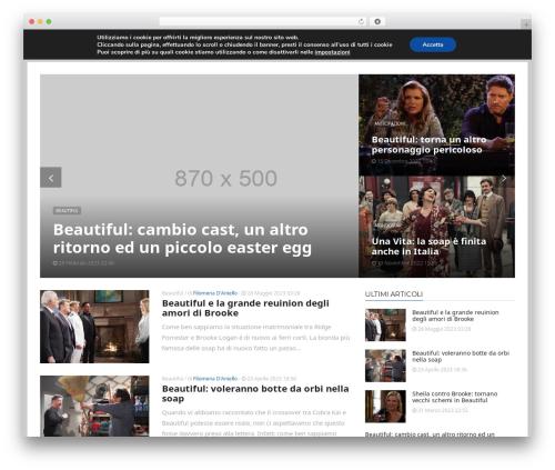 ADMAG best WordPress template - tuttosoap.com