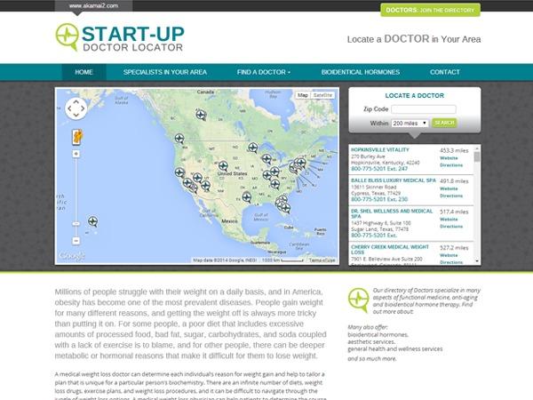 Akamai Locator WordPress theme