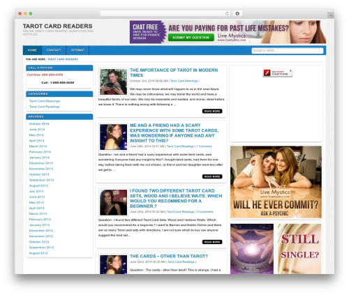 Ariel WordPress template - tarotcardreader.info