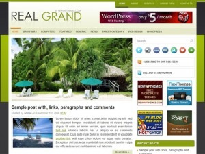 Best WordPress template Real Grand