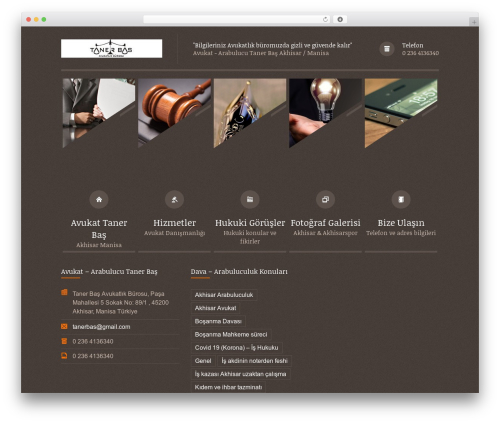 Best WordPress template Themis - Law Lawyer Business WordPress Theme - tanerbasavukatlikburosu.com
