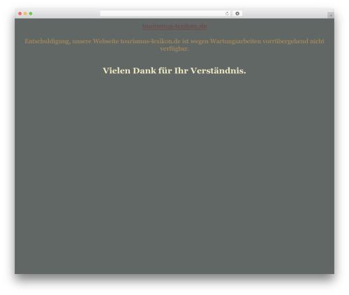 Best WordPress theme tegude - tourismus-lexikon.de