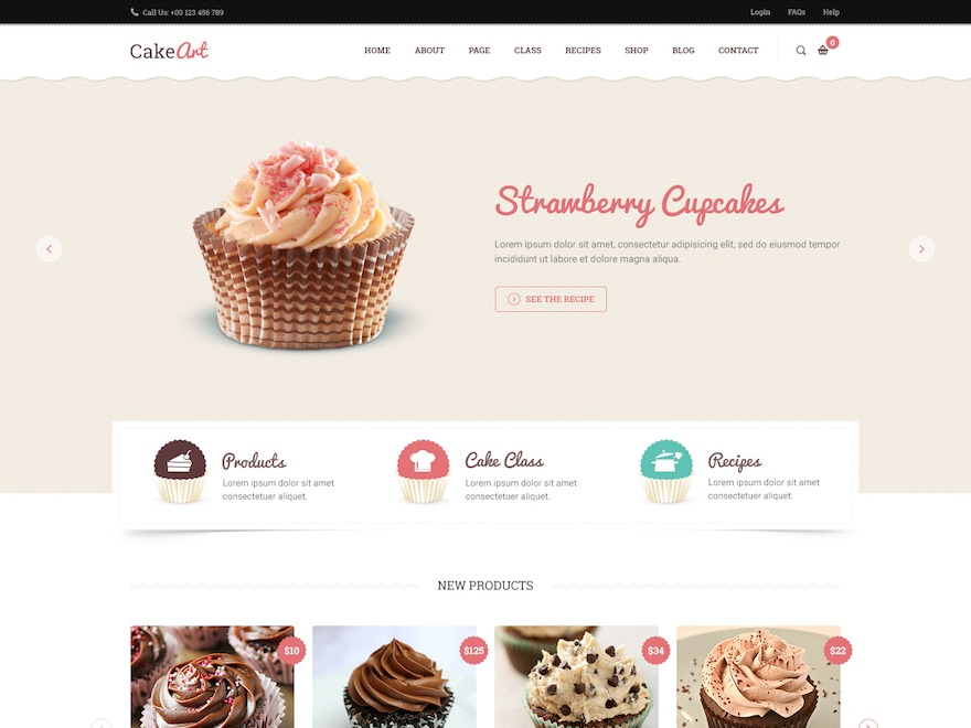 Cake Art WordPress theme design