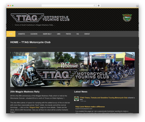 Clockwork WP WordPress theme design - ttag.org.nz