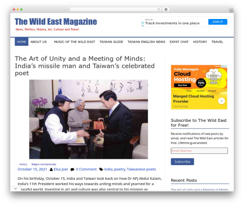 colormag-child best WordPress magazine theme - thewildeast.net