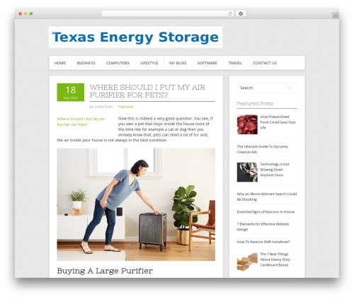 Contango premium WordPress theme - texasenergystorage.org
