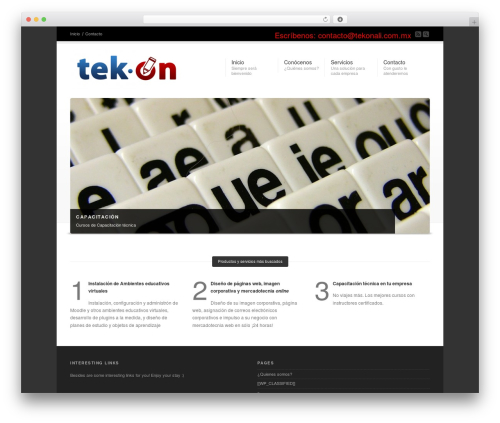 Corona WordPress theme - tekonali.com.mx