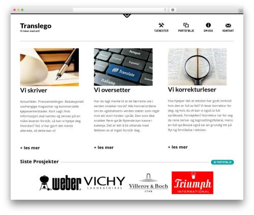 Daisho WordPress website template - translego.no