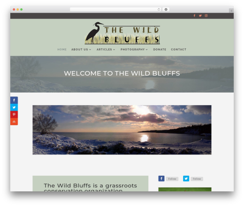 Divi WordPress theme - thewildbluffs.com