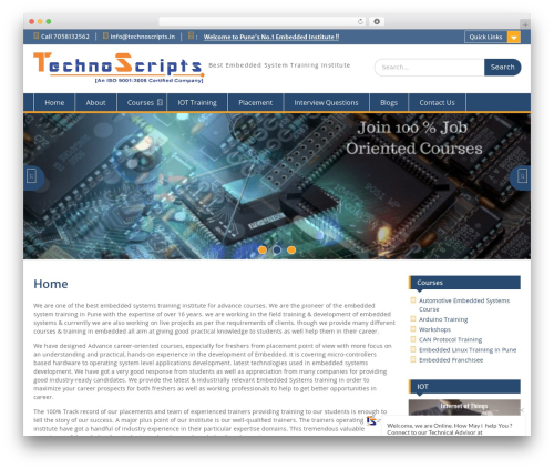 Education Hub free WordPress theme - technoscripts.in