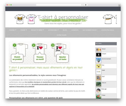 Gray Chalk WP template - tshirt-perso.fr