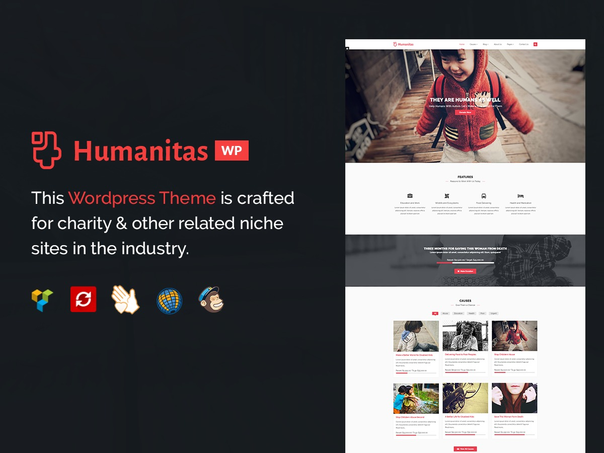 Humanitas premium WordPress theme