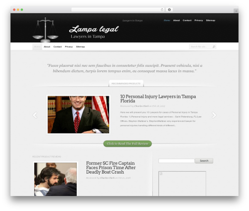 InReview WordPress template - tampalegal.net