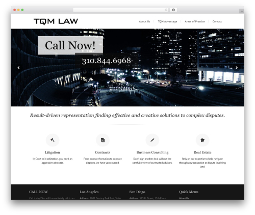Lounge theme WordPress - tqmlaw.com