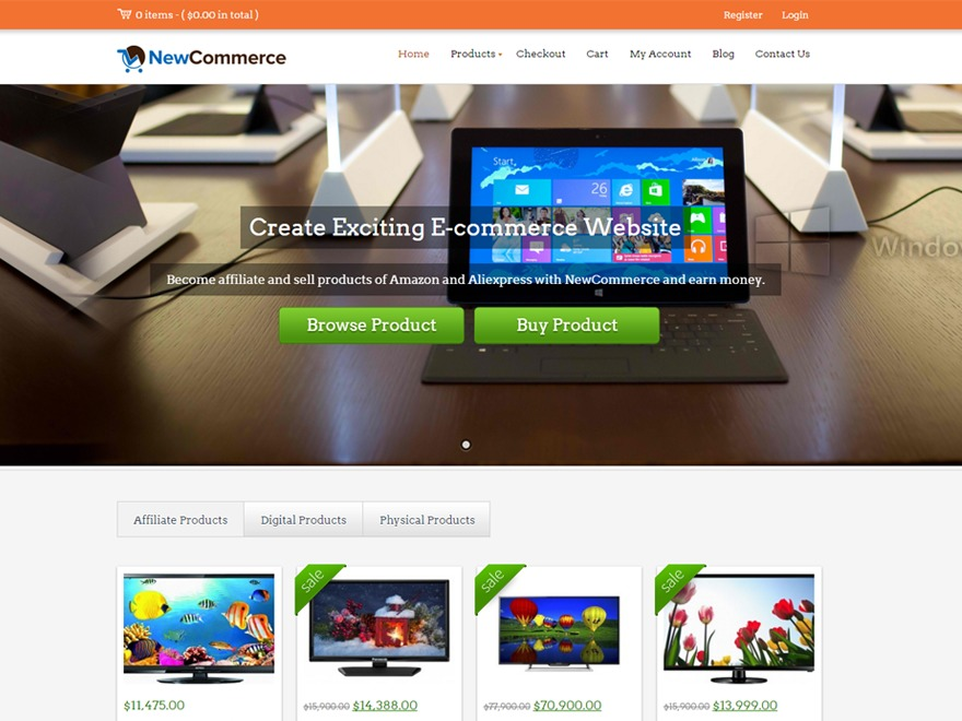 NewCommerce Suite WordPress ecommerce theme