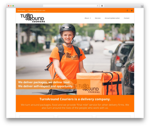 Nimva theme WordPress - turnaroundcouriers.com