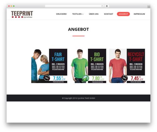 Quality template WordPress free - teeprint.cyroline.de