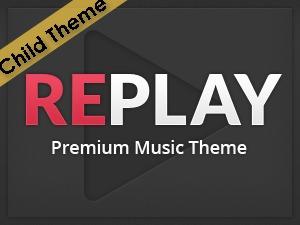 Replay Child WordPress website template