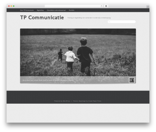 Reportage WordPress theme design - tpcommunicatie.nl