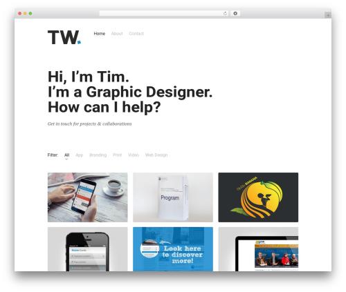 Skills WordPress page template - timwendel.ch