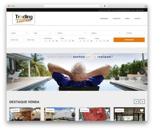 Template WordPress Vista Floripa - tradingimoveis.com.br